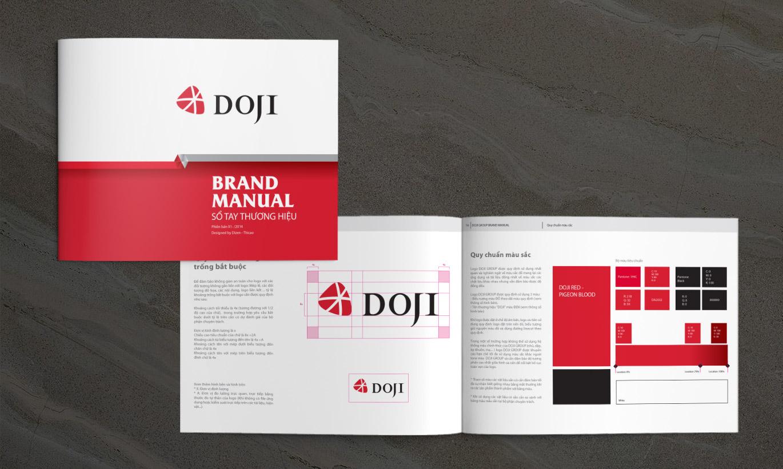 sổ tay thương hiệu Doji