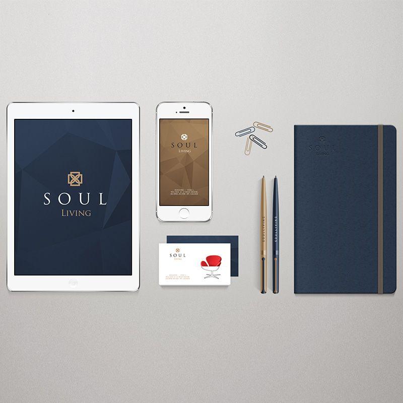 bộ nhận diện thương hiệu soul living