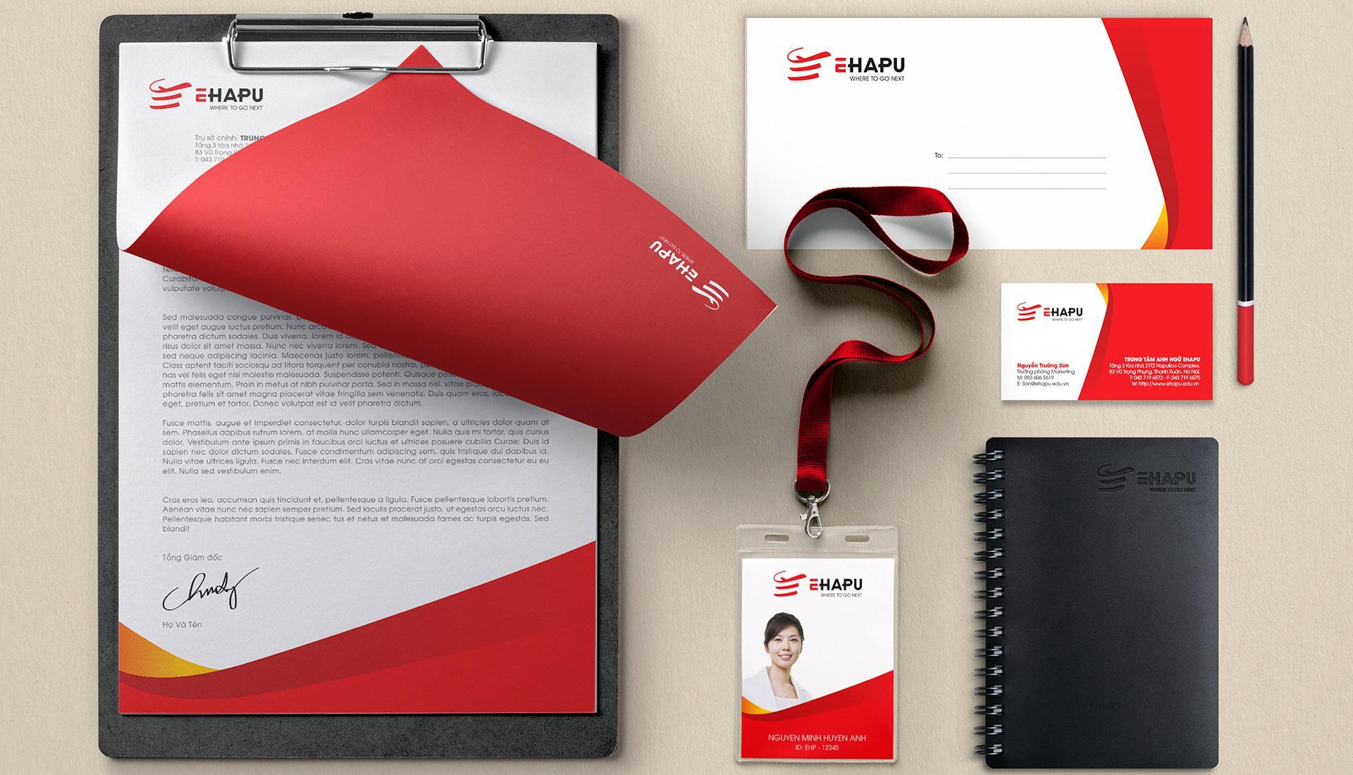 dự án bộ nhận diện thương hiệu EHAPU
