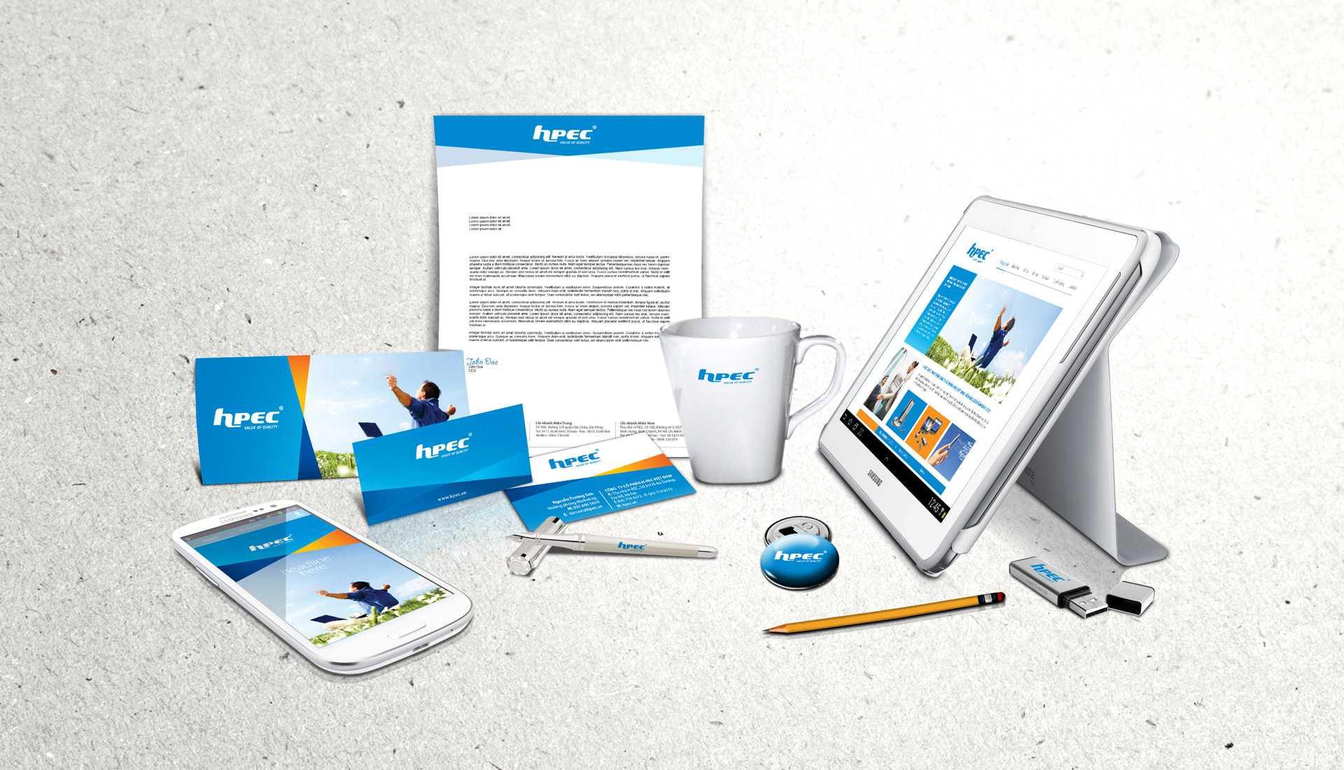 dự án bộ nhận diện thương hiệu hpec