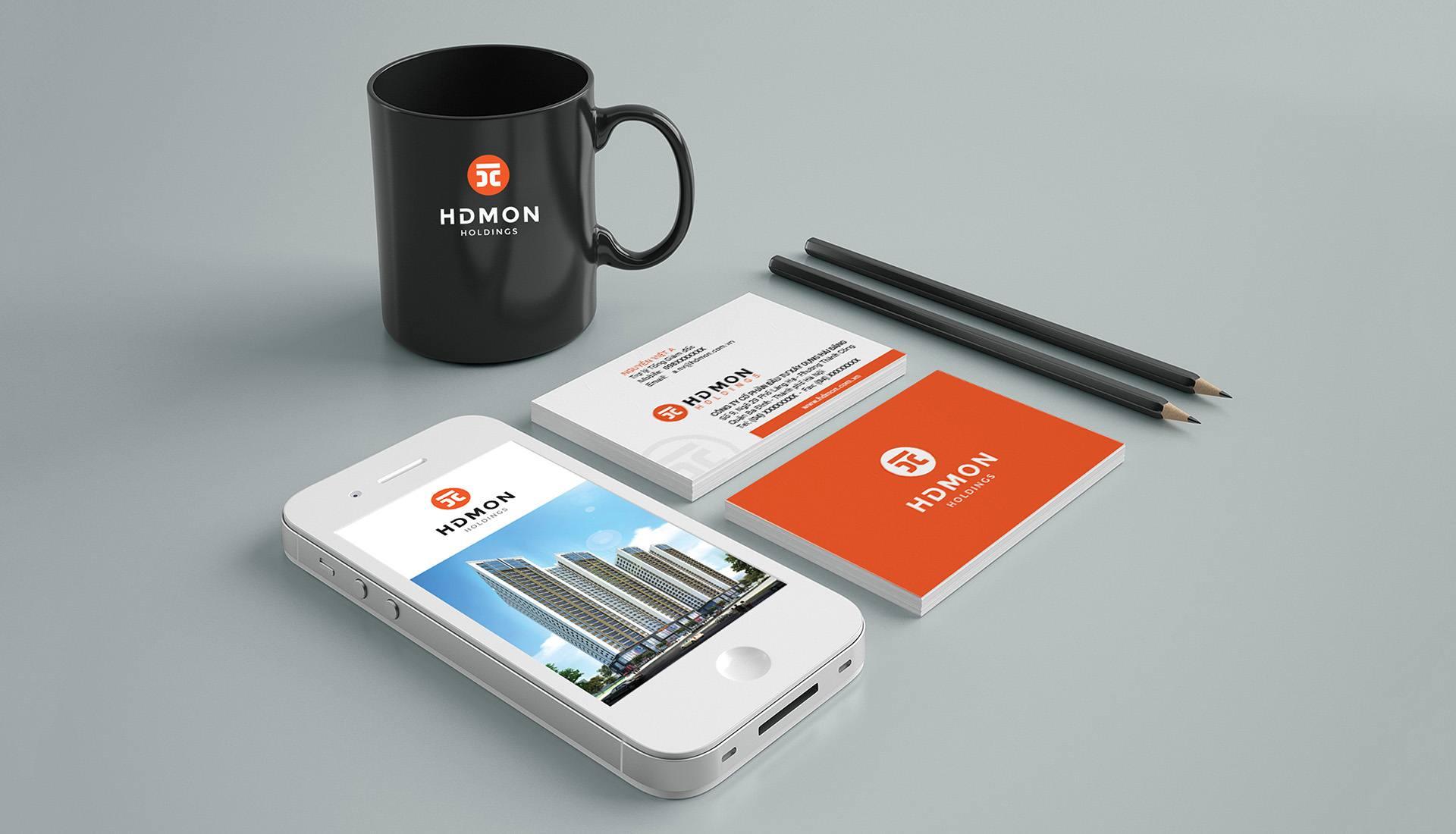 dự án thiết kế bộ nhận diện thương hiệu hdmon holdings