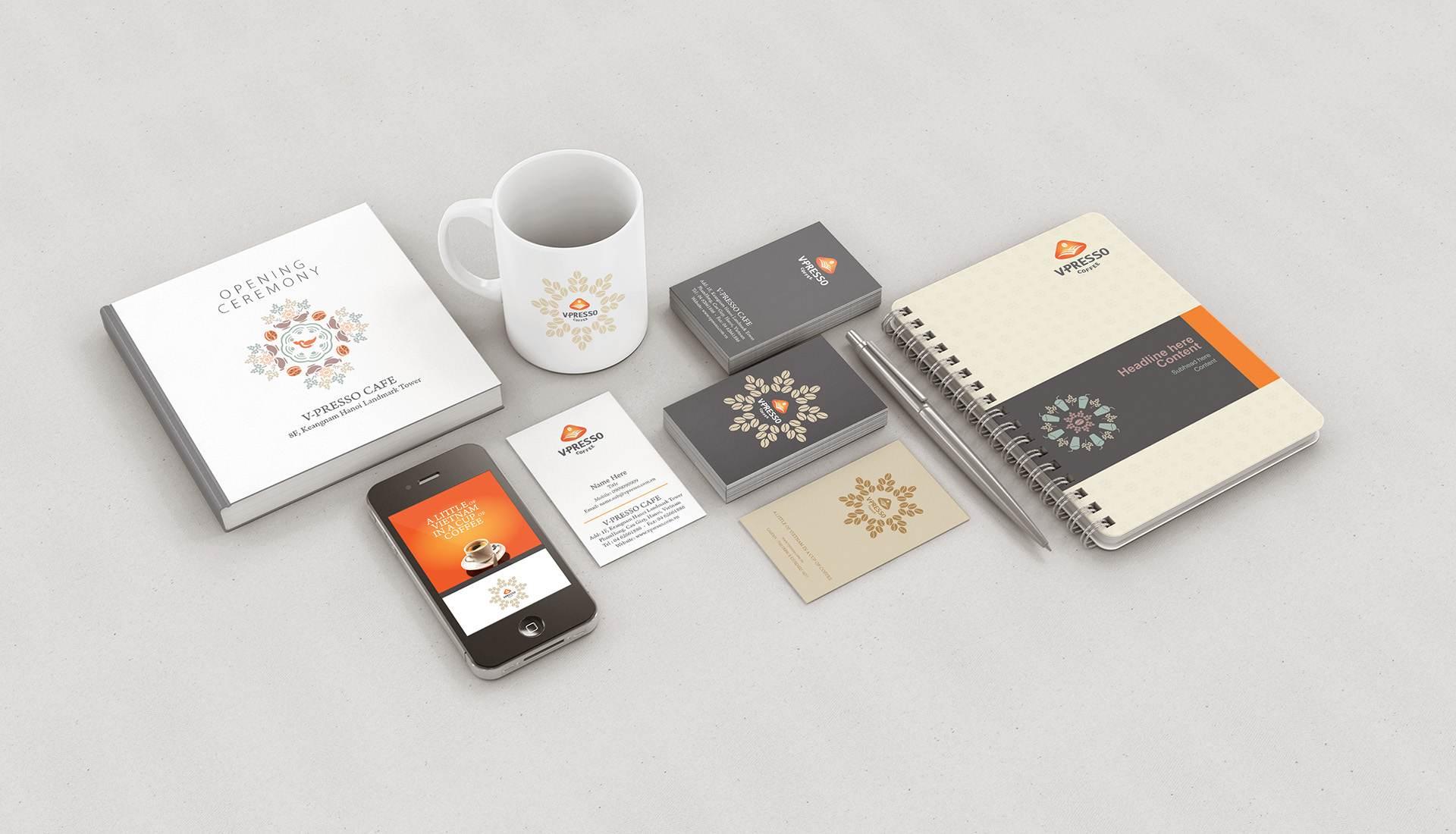dự án thiết kế thương hiệu V-Presso