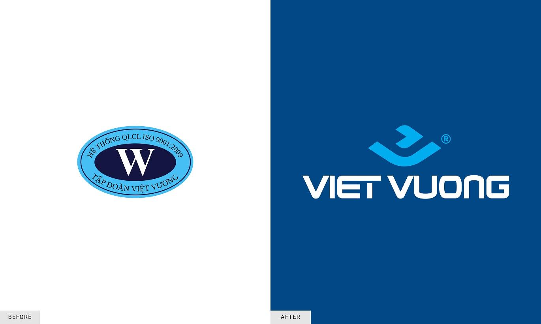 logo Việt Vương trước và sau