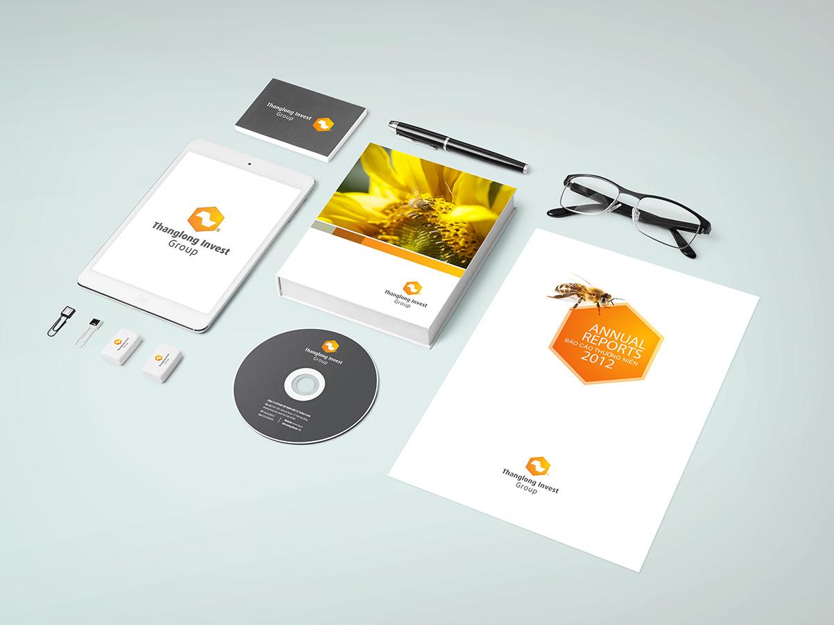 thiết kế bộ nhận diện thương hiệu thăng long invest group