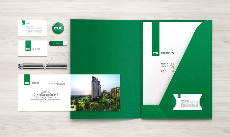 thiết kế Logo nhận diện thương hiệu CTX Holdings 2