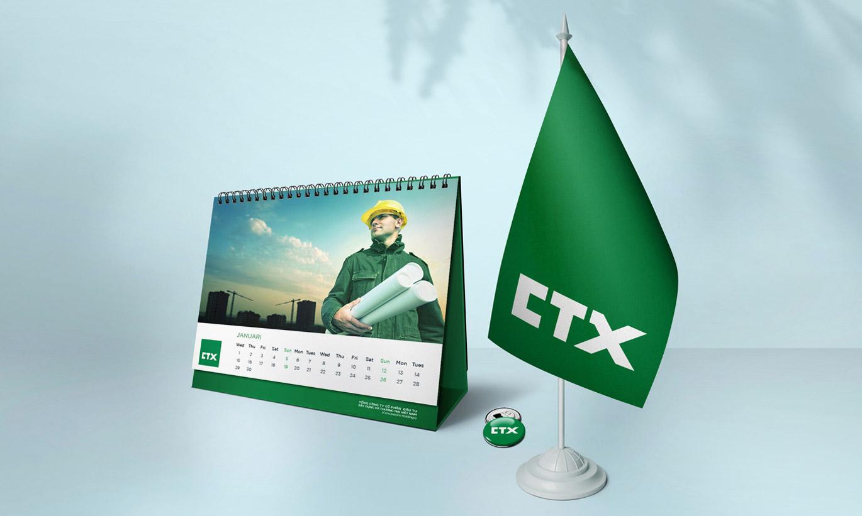 thiết kế Logo nhận diện thương hiệu CTX Holdings 3