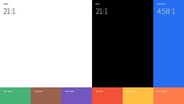 hệ thống màu sắc của uber