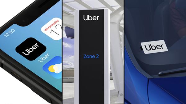 hệ thống ứng dụng icon của uber rebrand