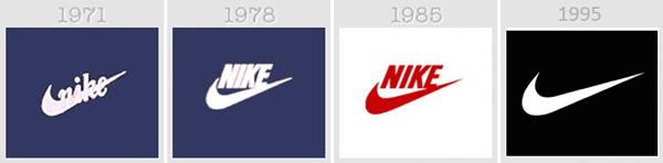 logo thay đổi của Nike