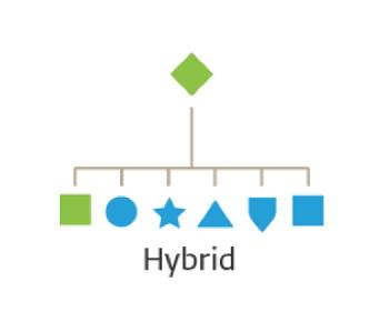 mô hình thương hiệu hybrid