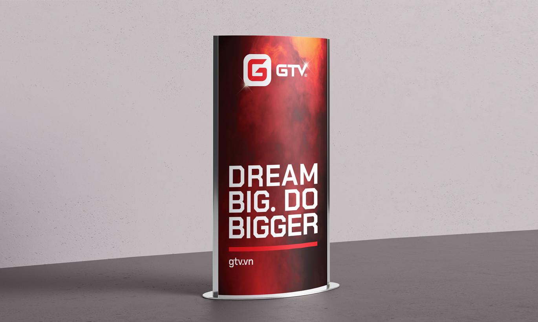 standee quảng cáo GTV