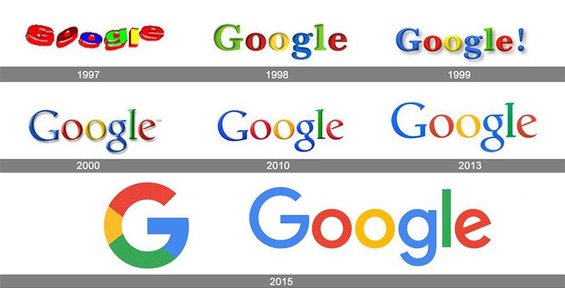 logo của Google qua các năm