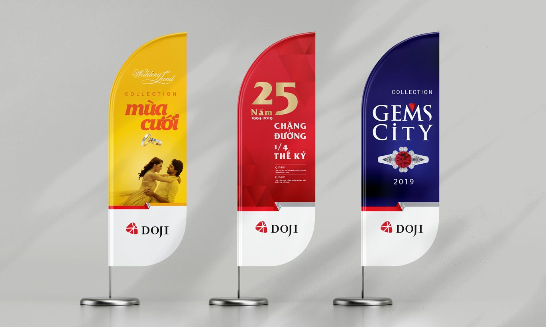 thiết kế banner thương hiệu Doji 2