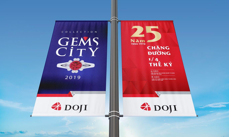 thiết kế banner thương hiệu Doji 3