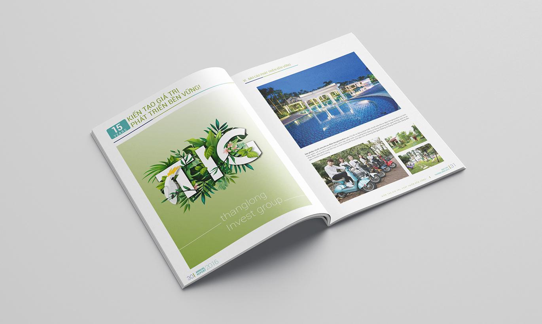 thiết kế báo cáo thường niên Thăng Long Invest Group 2