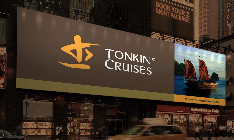 thiết kế biển hiệu Tonkin Cruises 1