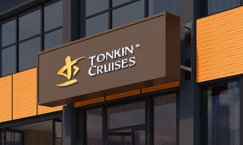 thiết kế biển hiệu Tonkin Cruises 3