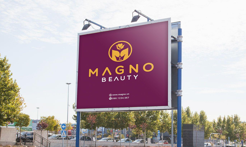 thiết kế biển quảng cáo Magno Beauty 1