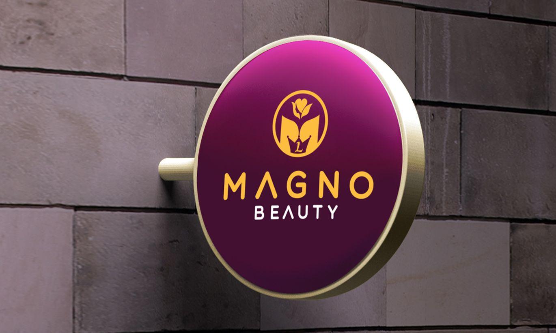 thiết kế biển quảng cáo Magno Beauty 2