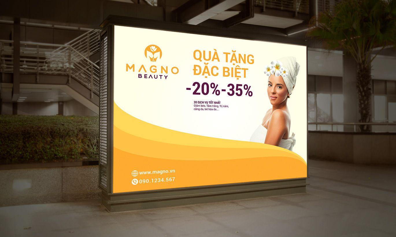 thiết kế biển quảng cáo Magno Beauty 3