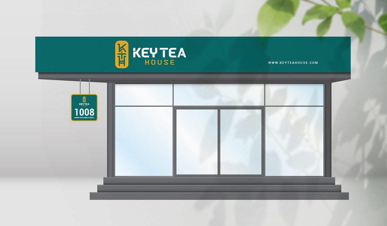 thiết kế biển quảng cáo trà sữa Keytea House