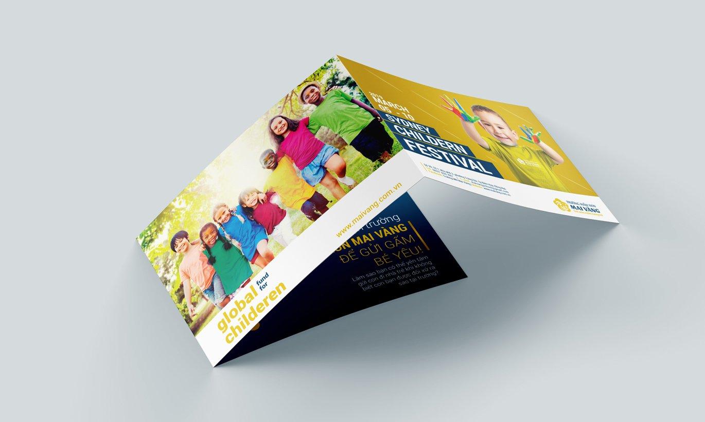 thiết kế Brochure trường mầm non Mai Vàng 1