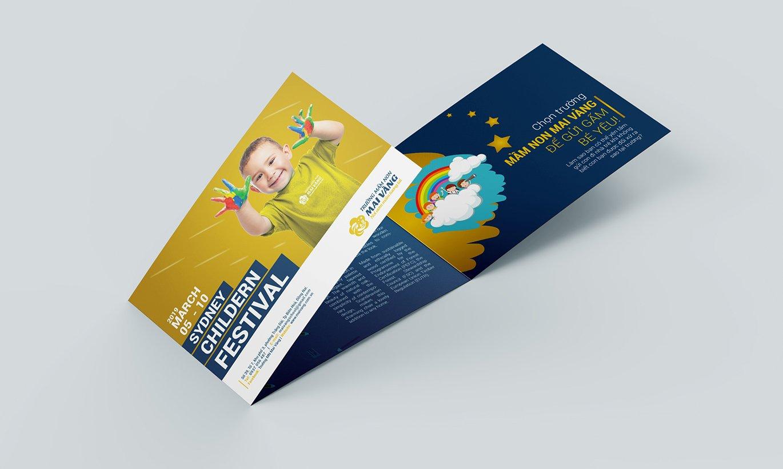 thiết kế Brochure trường mầm non Mai Vàng 2