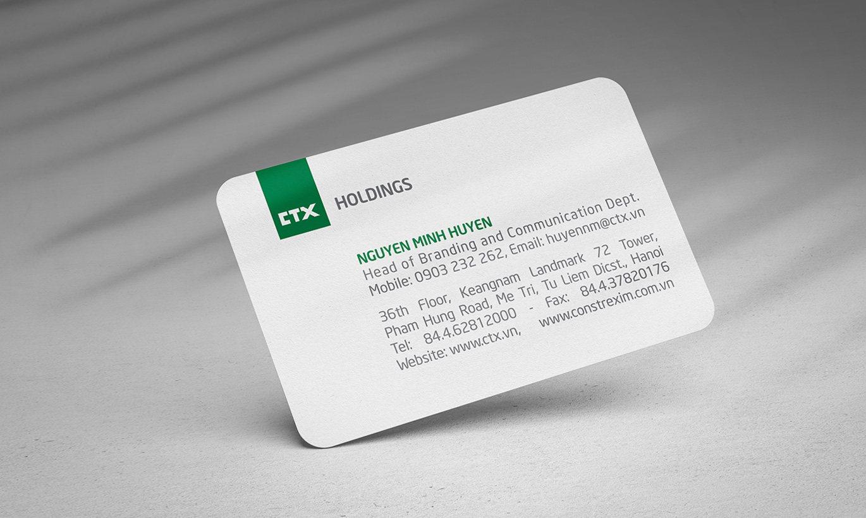 thiết kế Card Visit CTX Holdings 2