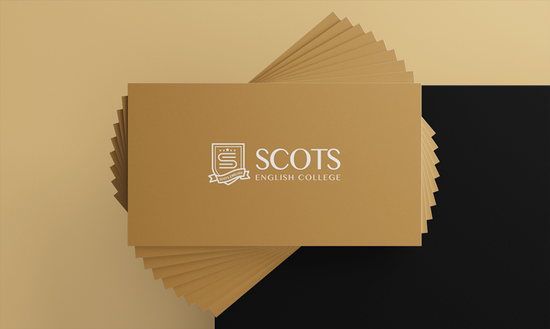 thiết kế card visit Scots English College 2