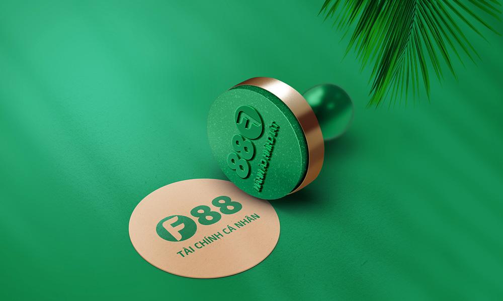 thiết kế Logo nhận diện thương hiệu F88 1