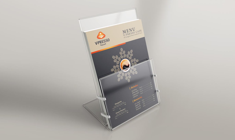 thiết kế Menu cafe V-Presso 3