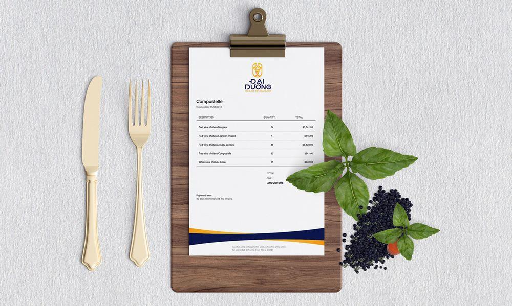 thiết kế Menu nhà hàng Đại Dương 1