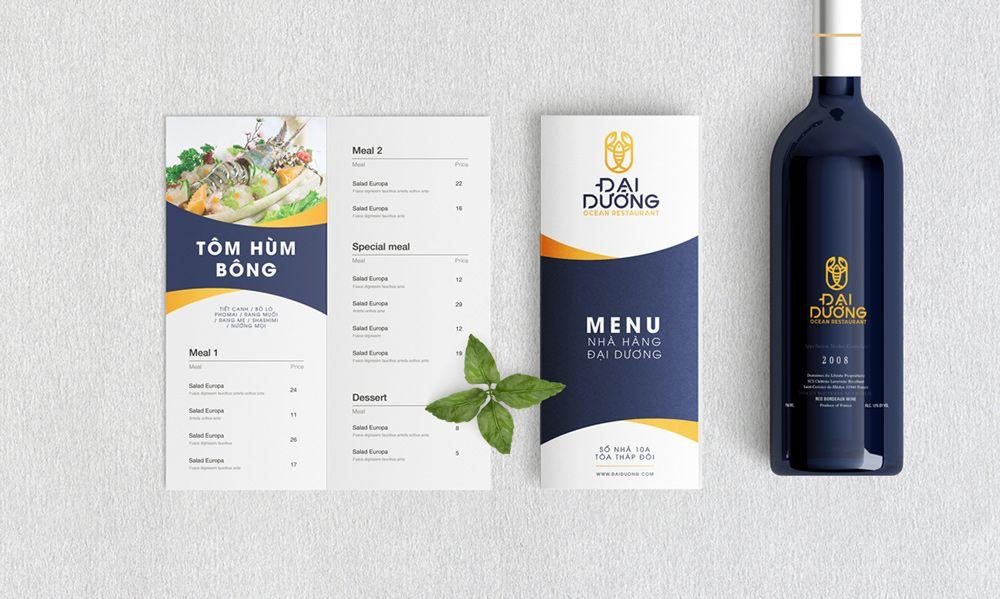 thiết kế Menu nhà hàng Đại Dương 2