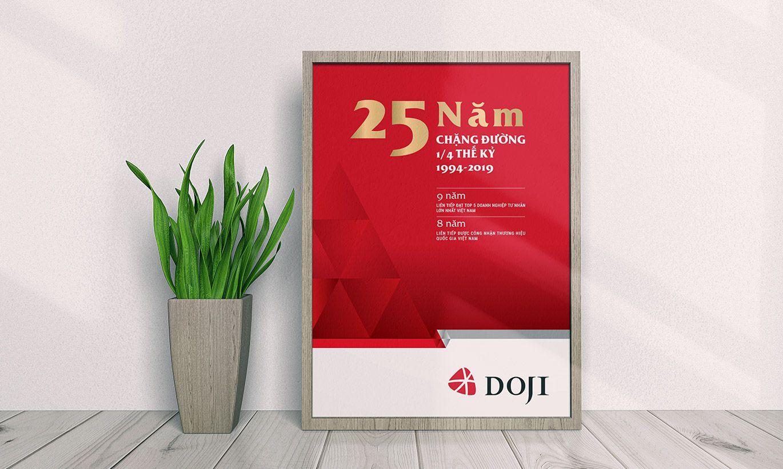 thiết kế Poster thương hiệu Doji 2