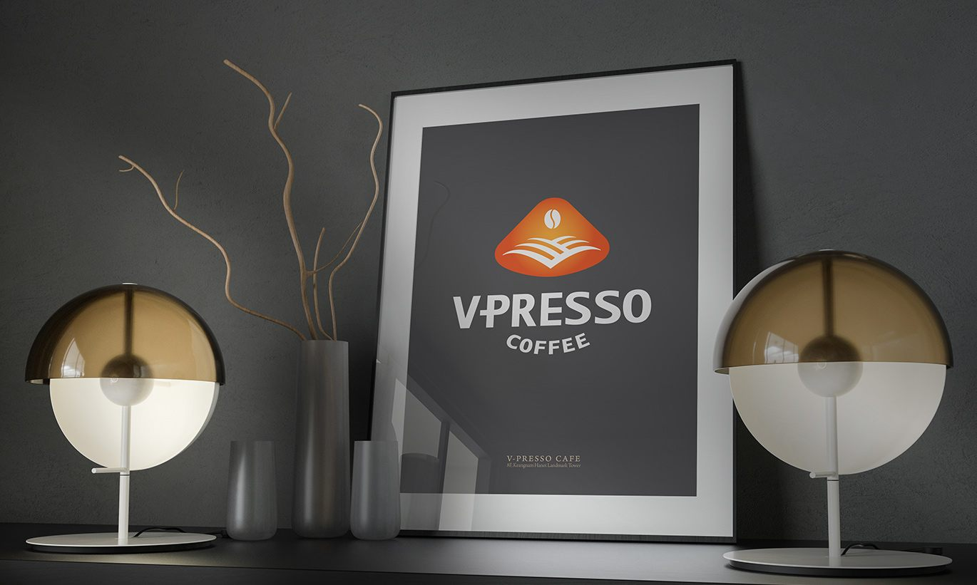 thiết kế Poster V-Presso 3