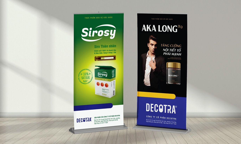 thiết kế Standee dược Decotra 3