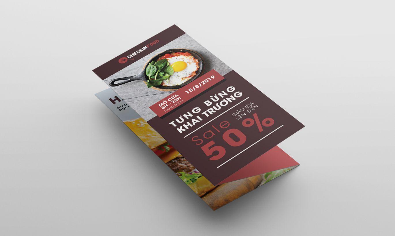 thiết kế tờ rơi checkin food 2