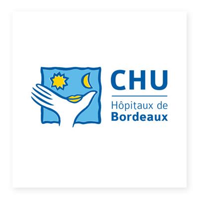 Logo bệnh viện đại học Bordeaux