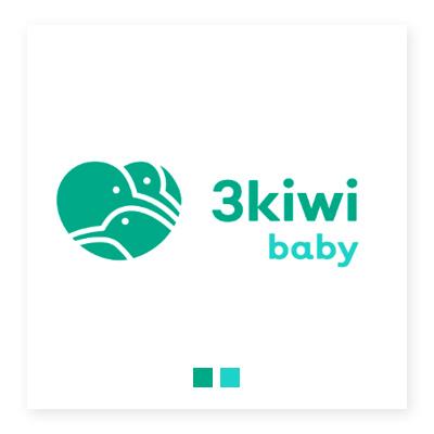 Logo cửa hàng 3kiwi baby
