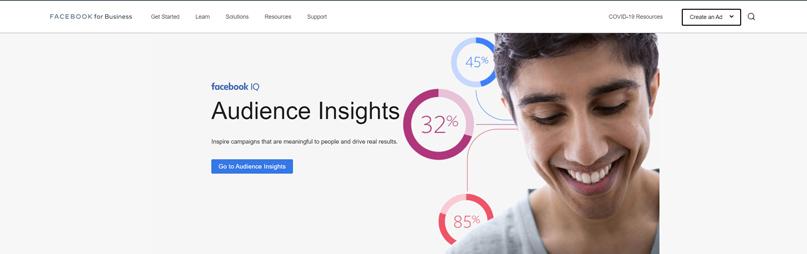 sử dụng công cụ Audience Insights của Facebook