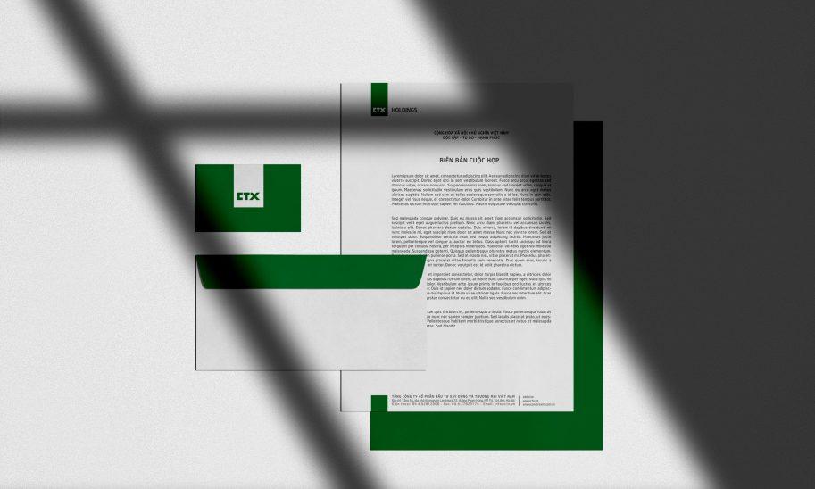 bộ nhận diện thương hiệu CTX 3