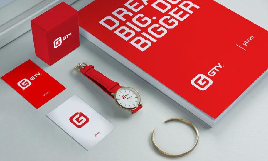 thiết kế bộ nhận diện thương hiệu GTV