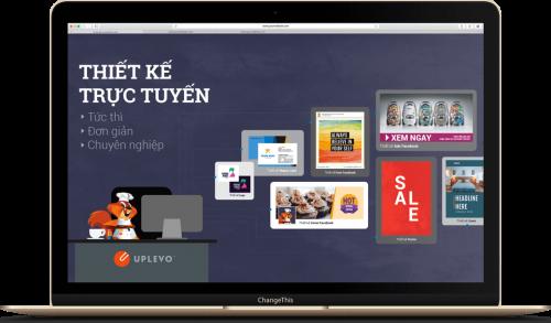 công cụ thiết kế trực tuyến Uplevo