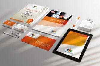 bộ nhận diện thương hiệu tập đoàn công nghệ