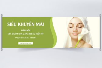 thiết kế banner spa