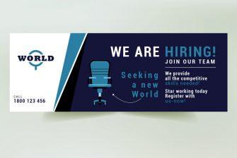 thiết kế banner tuyển dụng
