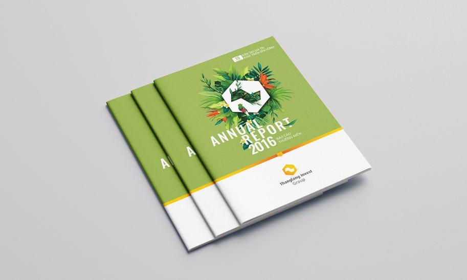 thiết kế báo cáo thường niên Thăng Long Invest Group 1