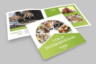 thiết kế brochure thực phẩm