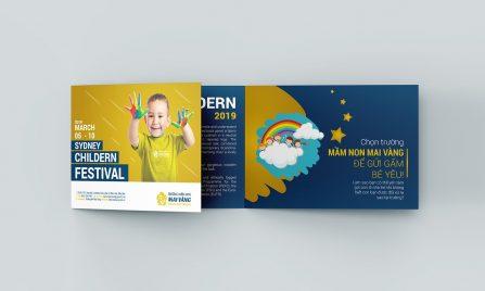 thiết kế Brochure trường mầm non Mai Vàng 3
