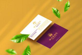 thiết kế card visit spa